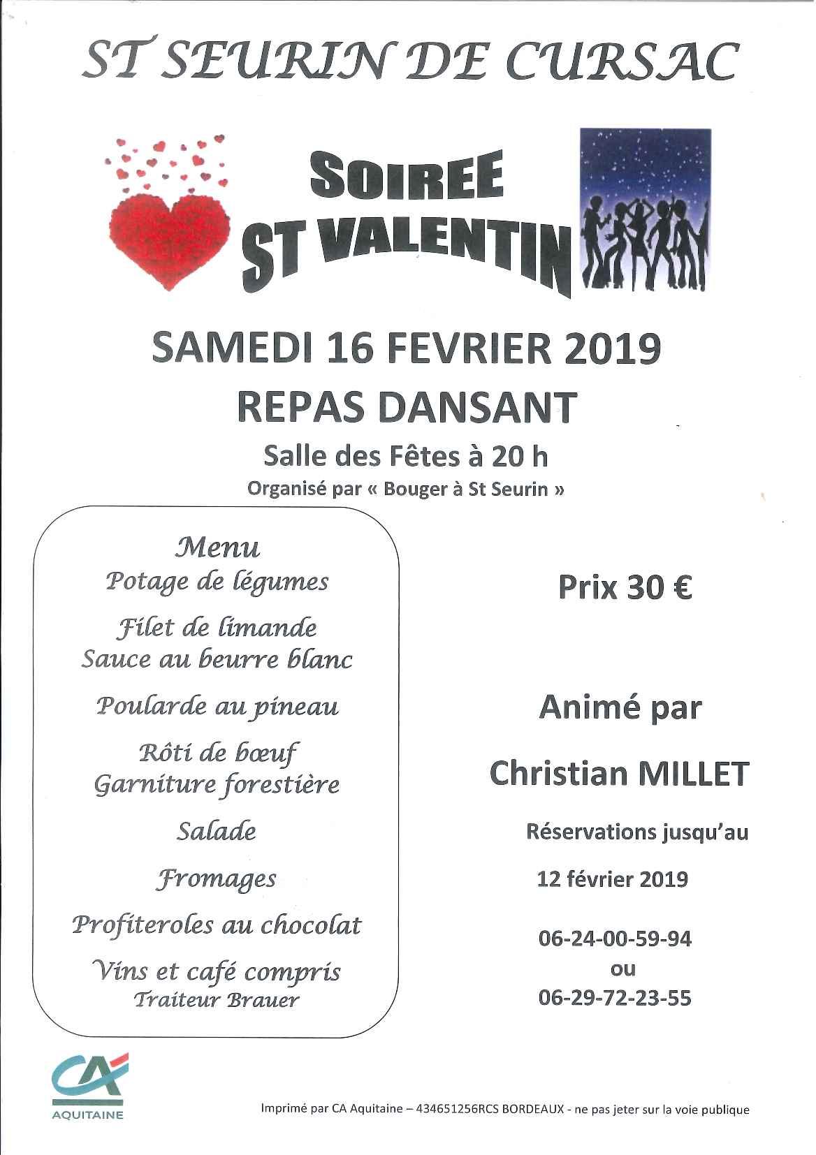 Bouger à St Seurin - Soirée St Valentin